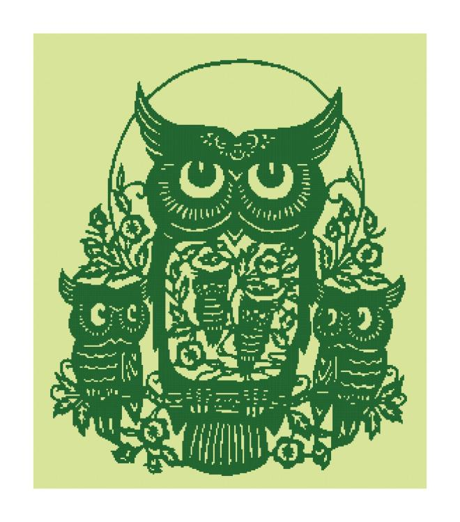 Owl Silhouette Pattern
