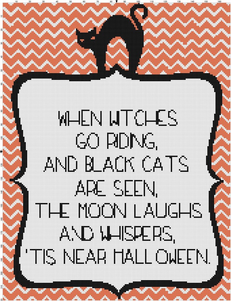 When Witches Go Riding Pattern