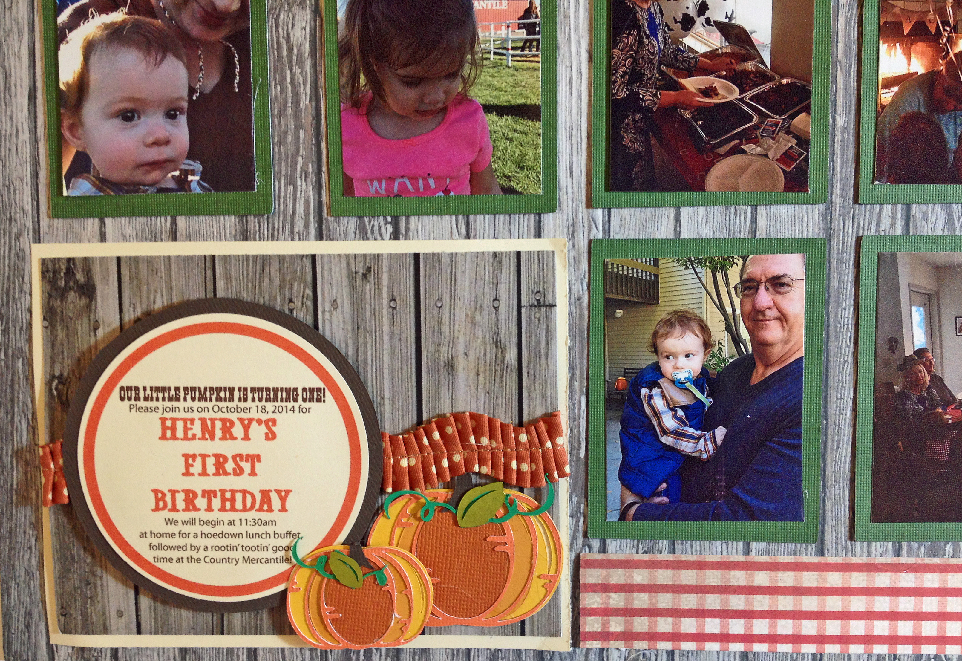 Paper piecing party invitation
