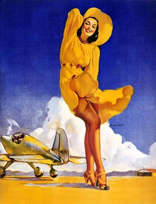 Pin-Up with Plane Fabric Block http://www.ebay.com/itm/Pin-Up-Girl-with-Plane-8x10-Fabric-Block-Great-tor-Quilting-Pillows-Wall-Ar-/251250357722