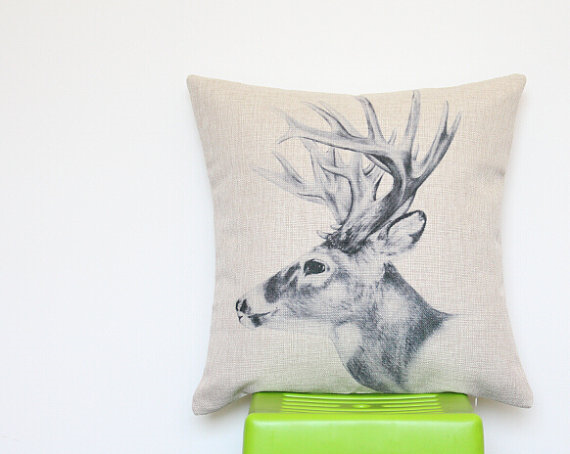 Deer me - what a delightful pillow cover!