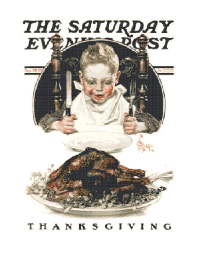 rsz_saturday_evening_post_boy_with_thanksgiving_turkey_on_table