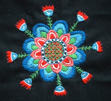 Embroidery featured on Sticka's blog.