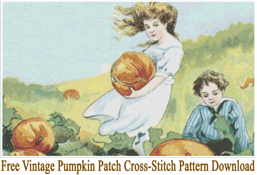 FREE Vintage Pumpkin Patch Pattern