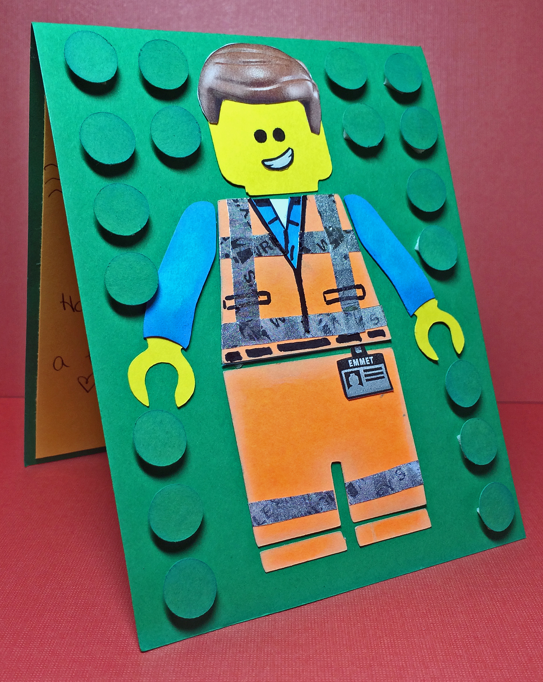 Emmet Lego Movie Birthday Card Free Emmet SVG Cutting File – Lego Birthday Card