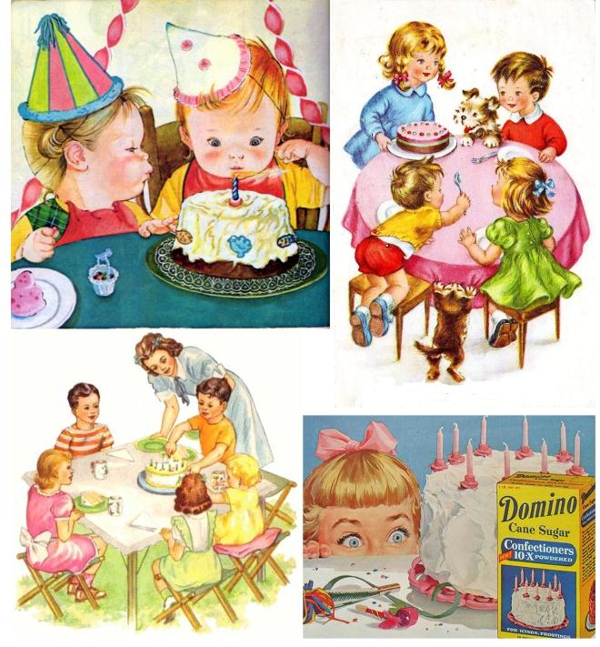 Retro Birthday Collage