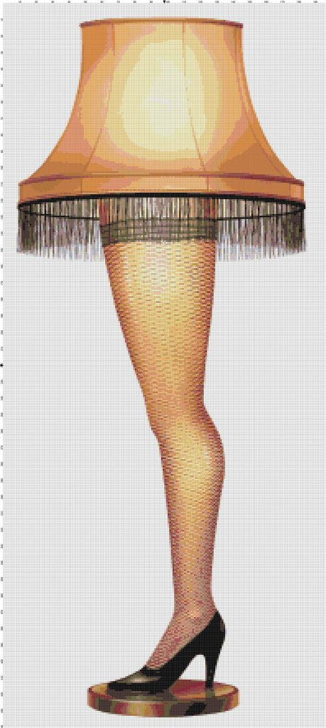 A Christmas Story Leg Lamp Cross-Stitch Pattern