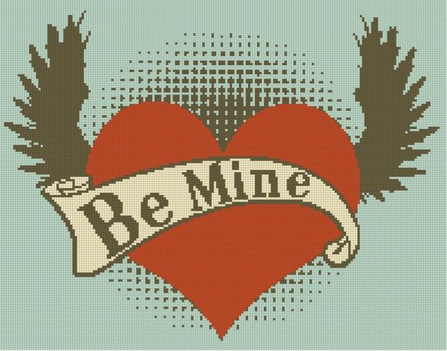 Be Mine Cross Stitch Pattern