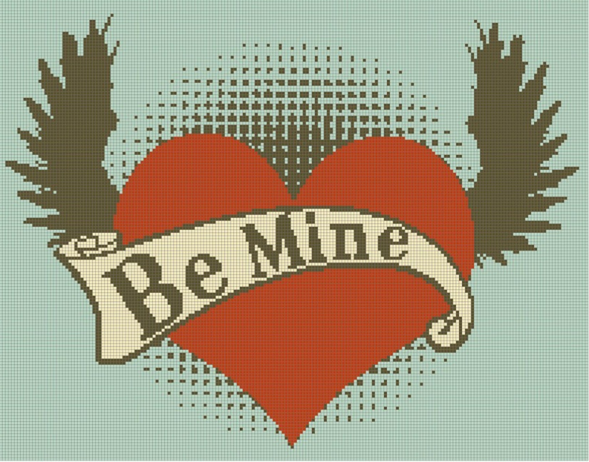 Be Mine Cross Stitch Pattern