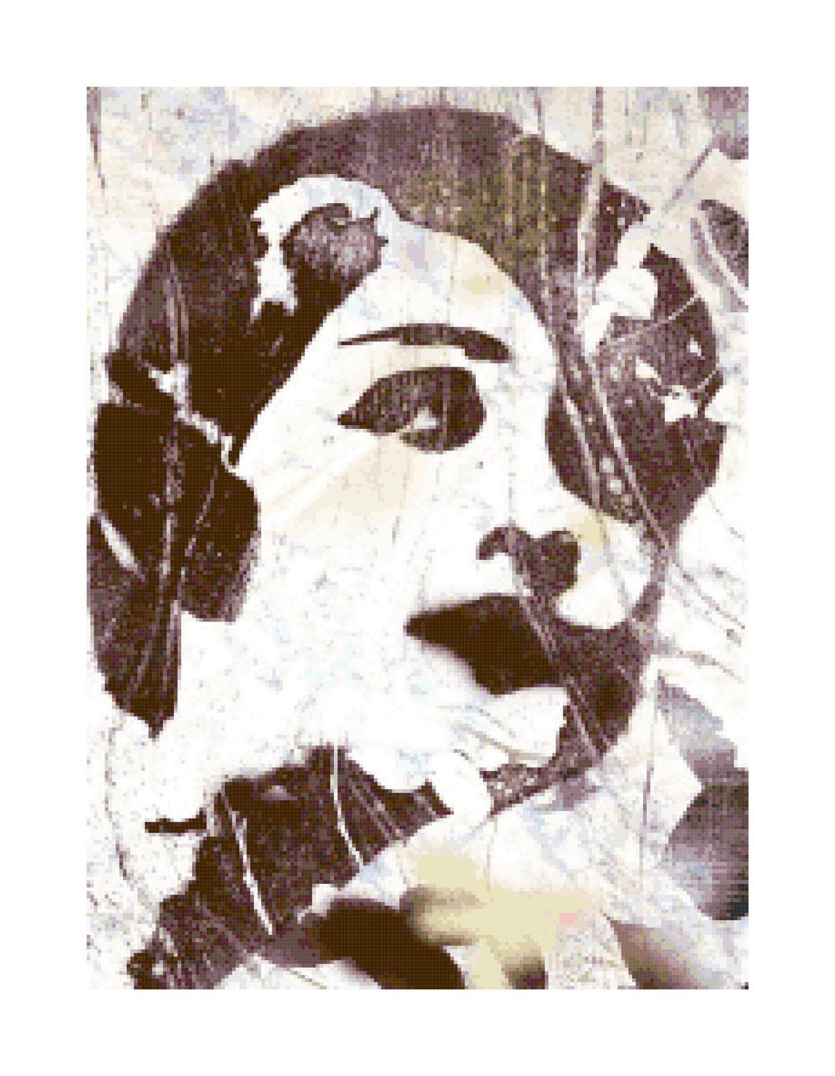 Dramatic flapper woman pattern