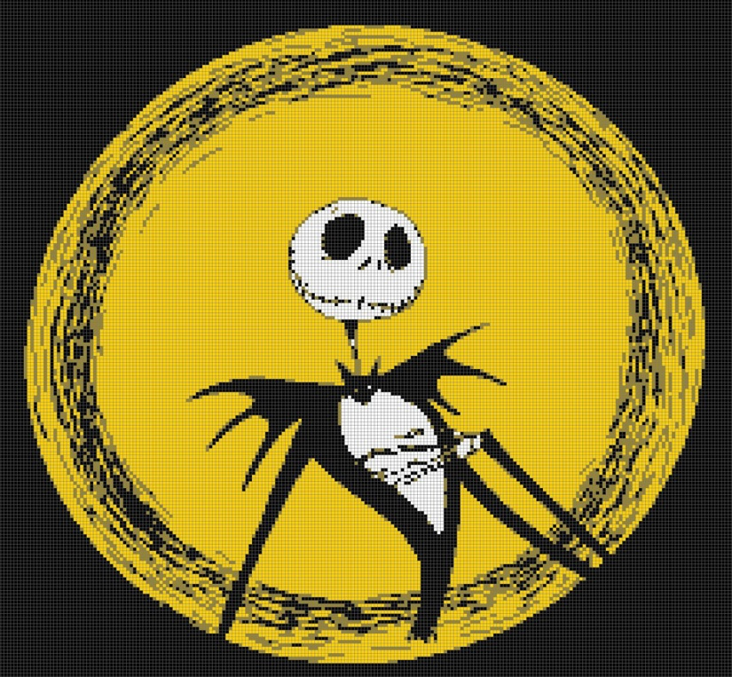 Jack Skellington cross-stitch pattern