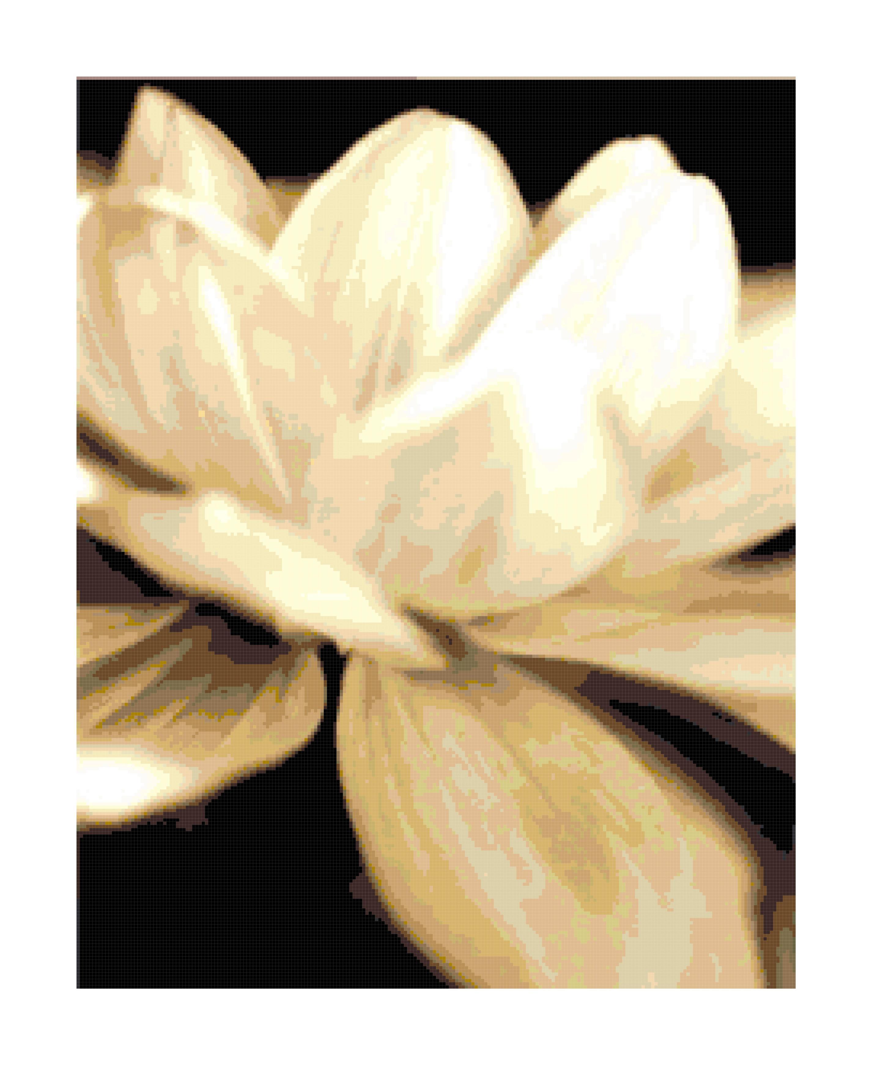 Lily pad cross stitch pattern