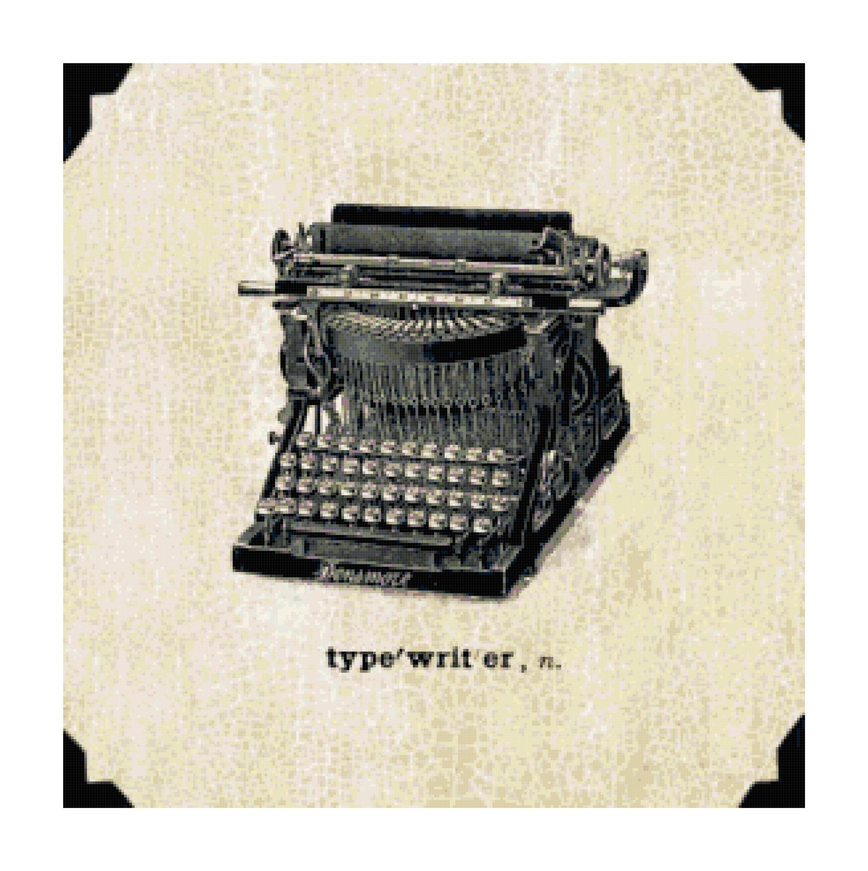 Typewriter cross stitch pattern