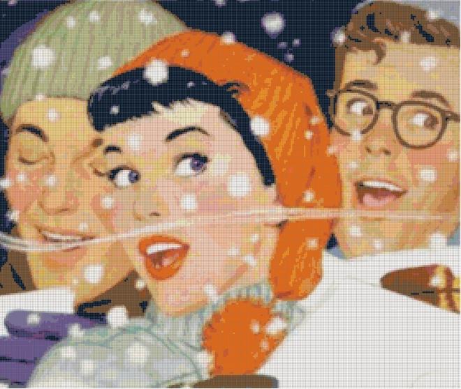 Vintage Christmas Carols Pattern