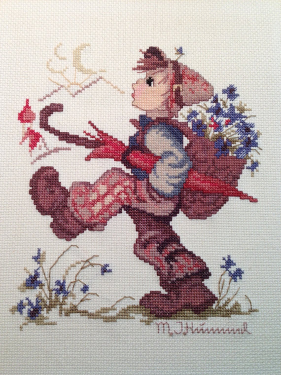 Hummel Boy cross stitch