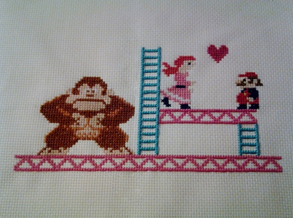 Donkey Kong cross stitch