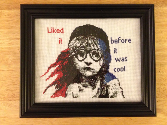 Les Mis cross stitch