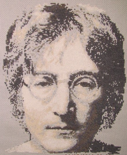 John Lennon cross stitch