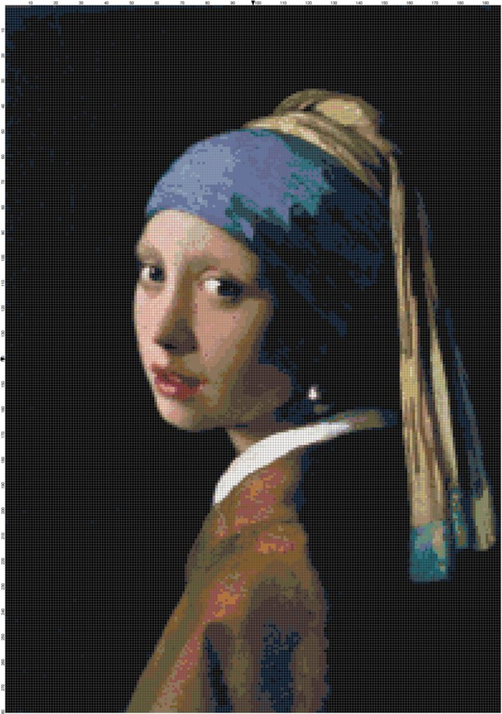 Girl with the Pearl Earring cross stitch pattern