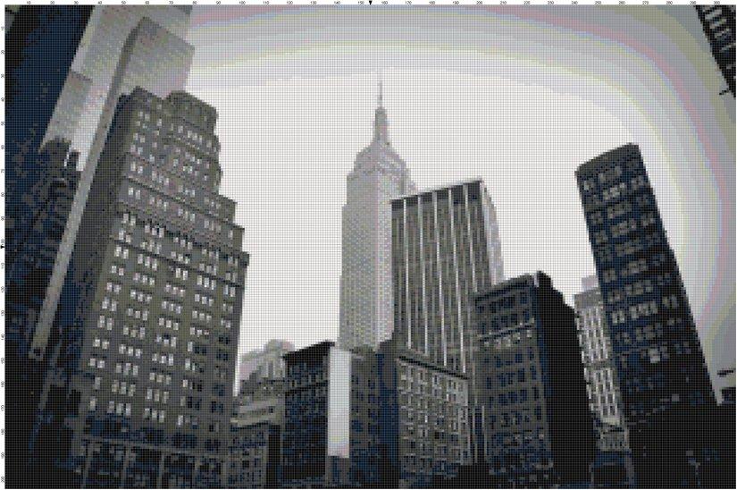 NYC Skyline cross stitch pattern