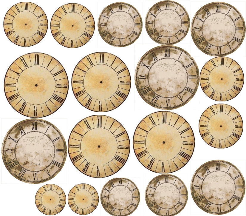 clocks collage