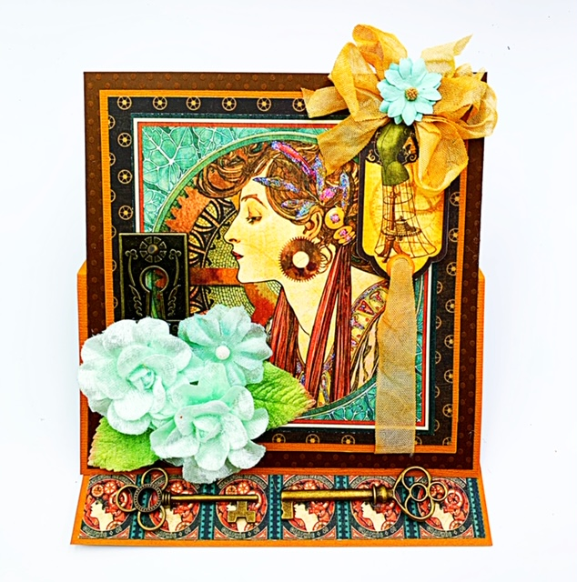 steampunk easel card